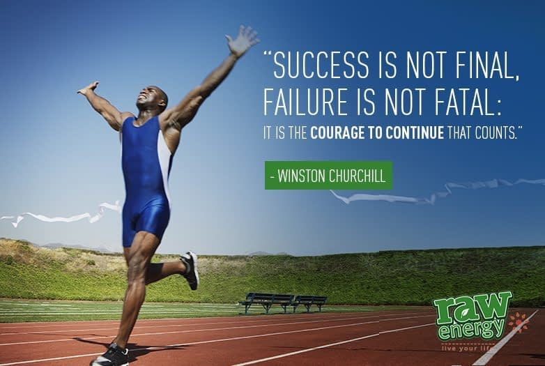 Man running Success without stress by Lawrence Mitchell