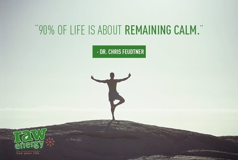 Man standing calm Success without stress